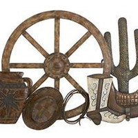 Country Western Metal Wall Art Decor Sculpture
