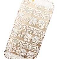 Clear Plastic Case Cover for Iphone 5 5s 5c Henna Lotus Floral Elephant Hindu Ganesh (For iphone 5c)