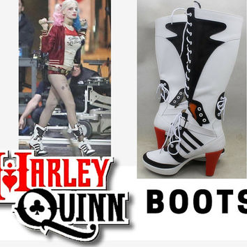 Harley Quinn Boots, Cosplay Boots, Suicide Squad Cosplay, Harley Quinn Shoes, Daddy's Lil Monster Costume, Batman, Joker, Cosplay Shoes