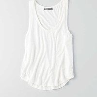 Don't Ask Why Curved Hem Tank, Chalk