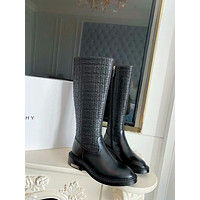GIVENCHY 2021 Trending Women's men Leather Side Zip Lace-up Ankle Boots Shoes High Boots08070gh