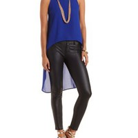 Extreme High-Low Chiffon Tank by Charlotte Russe