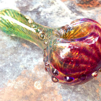 Mermaid Series- Purple and Green Color changing fade glass pipe
