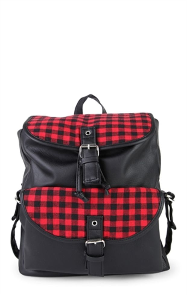 5b5d6749e59 http://wanelo.com/p/13614676/faux-leather-backpack-with-plaid ...