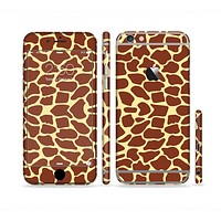 The Simple Vector Giraffe Print Sectioned Skin Series for the Apple iPhone6/6s Plus