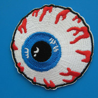 Iron-on Embroidered Patch Eyeball 2.75 inch