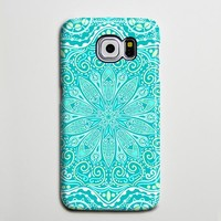 Teal Green Floral Tribal Turquoise Galaxy S8 Plus Case Galaxy S7 Case Samsung Galaxy Note 5  Phone Case s6-050