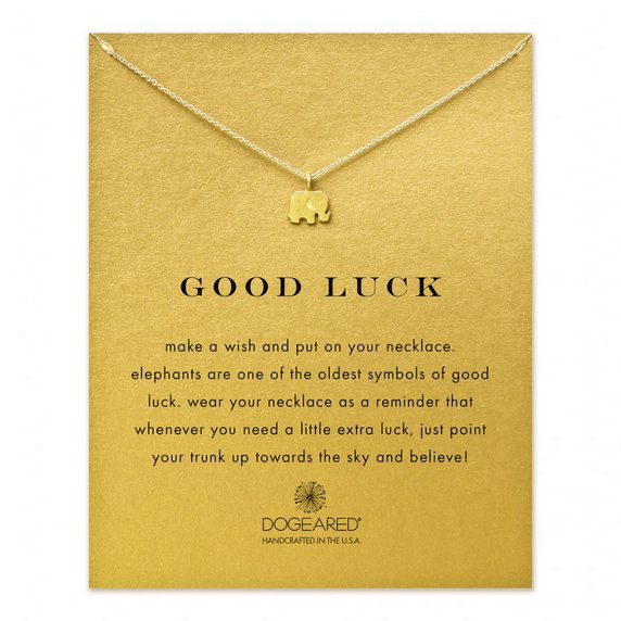 """Image of Dogeared - Reminder Good Luck Elephant Necklace 16"""" Gold Dipped"""
