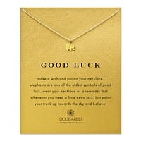 "Dogeared - Reminder Good Luck Elephant Necklace 16"" Gold Dipped"