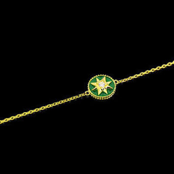 BeadyBoutique Lucky Star Jewelry Collection Bracelet - Green