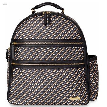 Skip Hop Deco Saffiano Backpack Diaper Bag.