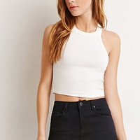 Stretch Knit Crop Top