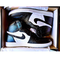 Bunchsun Nike Air Jordan Retro 1 Black white Contrast Sports shoes High Tops