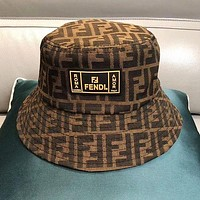 Fendi Hat Cap Baseball Cap Caps Visors Fisherman'S Hat Coffee