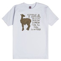 Tina, You Fat Lard-Unisex White T-Shirt