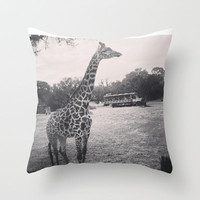 Giraffe Throw Pillow by Elyse Notarianni | Society6