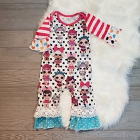 Polka Dot LOL Dolls Ruffle Romper
