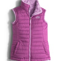 The North Face Reversible Mossbud Swirl Vest for Girls in Wisteria Purple NF0A2RCP-A7M