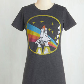 80s Mid-length Short Sleeves Blast-Off From the Past Tee