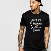 Cotton Alphabet Print Harry Potter T-shirts [10105706307]