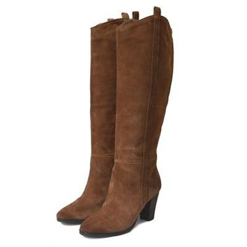 Charlotte Genuine Suede Knee High Boots 4 Colors