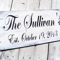 Customized Family Name sign - Established family name sign, est. sign, Welcome sign