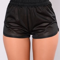 I'm Still Young Shorts - Black