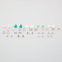 Full Tilt 20 Pairs Bow/Heart Earrings Metal One Size For Women 25832590101