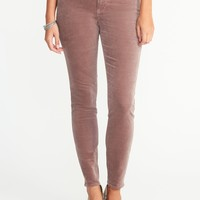 Mid-Rise Velvet Rockstar Pants for Women |old-navy
