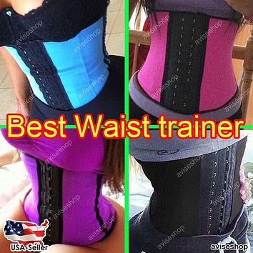 #1 Underbust Waist Trainer Cincher Corset Girdle Workout Belt Shaper Top