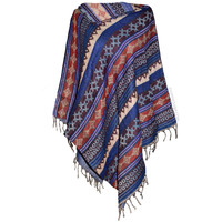 Woven Tribal Poncho on Sale for $48.95 at HippieShop.com