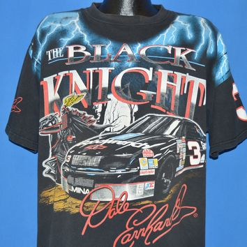 90s Dale Earnhardt Black Knight NASCAR t-shirt Extra Large