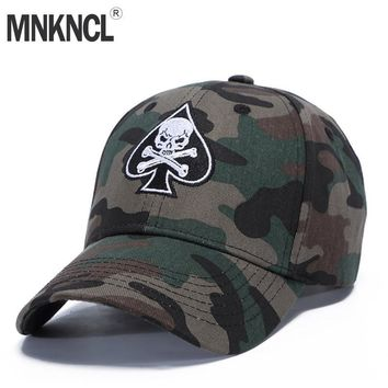 Trendy Winter Jacket MNKNCL High Quality Unisex Camouflage Outdoor Baseball Cap Skull Embroidery Snapback Fashion Sports Hats For Men & Women Caps AT_92_12