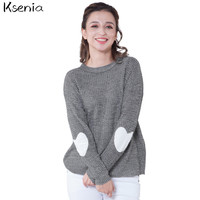 Ksenia Christmas sweater Love design Sweater Women 2017 Long Sleeve Casual Knitted Women Sweaters And Pullovers Female Jumper -in Pullovers from Women's Clothing & Accessories on Aliexpress.com | Alibaba Group