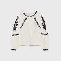 SHORT TUNIC WITH EMBROIDERY