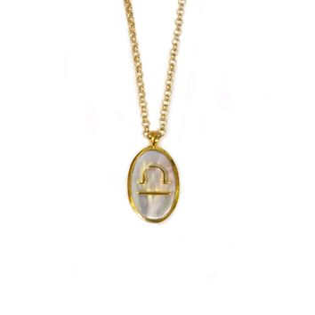 Mother of Pearl Libra Pendant
