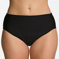 24th & Ocean Plus Solid High Waist Bottom - Black