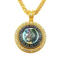 New Arrival Jewelry Gift Shiny Stylish Men Hip-hop Indian Pendant Necklace [10737328259]