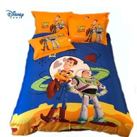 Cool disney Toy Story comforter beddings set full twin queen king size quilt cover 100% cotton Buzz Lightyear boy gift flat sheet kidAT_93_12