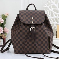 Louis Vuitton LV Fashion Leather Backpack Rucksack-1