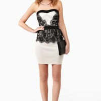 Into Darkness Peplum Dress