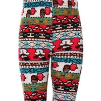 Girls Snowman Legging, Multi