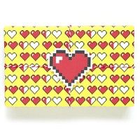8 Bit Heart Wrapping Paper- 90% Off!