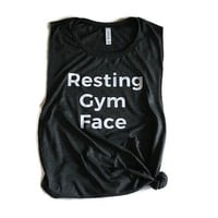 Resting gym face muscle tee Resting gym face muscle tank Gym face shirt Work out tee Body builder tank Gym shirt
