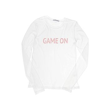 Game On Red Long Sleeve Crew Neck