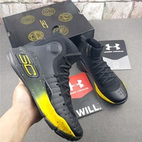 """Under Armour Curry 4 """"Black/Gold"""" Basketball Shoes"""