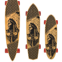 STRGHT Skateboards Skates With Wolves Design in Bamboo