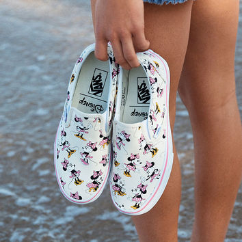 VANS Disney Minnie Mouse Classic Womens Slip-On Shoes   Sneakers