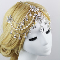 ornamentation Bridal Jewelry India frontlet headdressrhinestone wedding accessories yarn frontlet bride hair accessories vintage = 1929422276