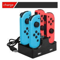 Game Console Charging FOR Nintendo Switch Four Charge NS Charge 4 Handle Seat Charge Left And Right Handle Cradle